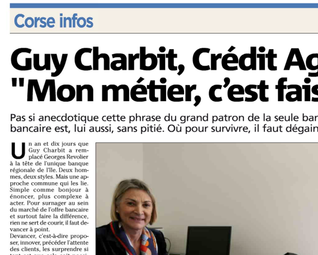 Fab Lab Corsica Published in Corse Matin - February 11th, 2015
