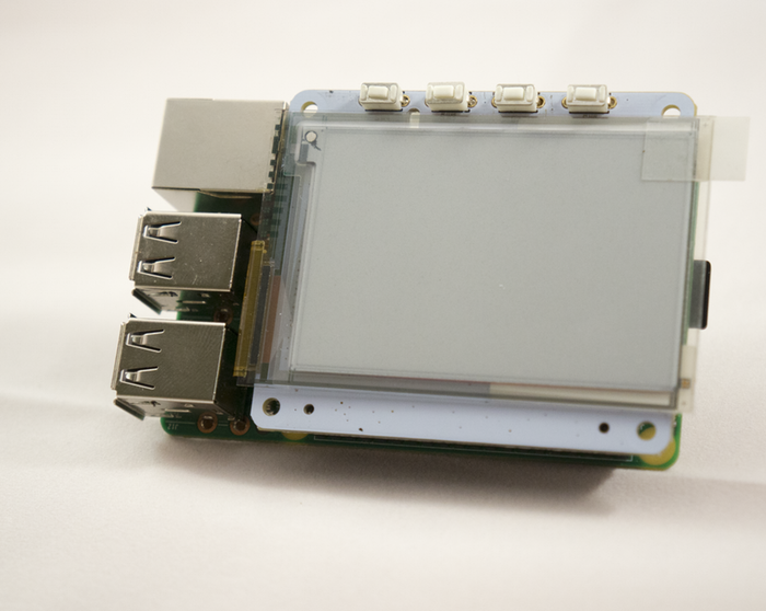 The ePaper Screen HAT for your Raspberry Pi