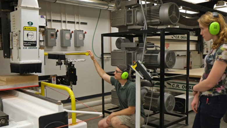 The Newly Renovated Digital Fabrication Lab (FABLab) at Taubman College Leverages State-of-The-Art Industrial Technology to Perform Architectural Fabrication Research