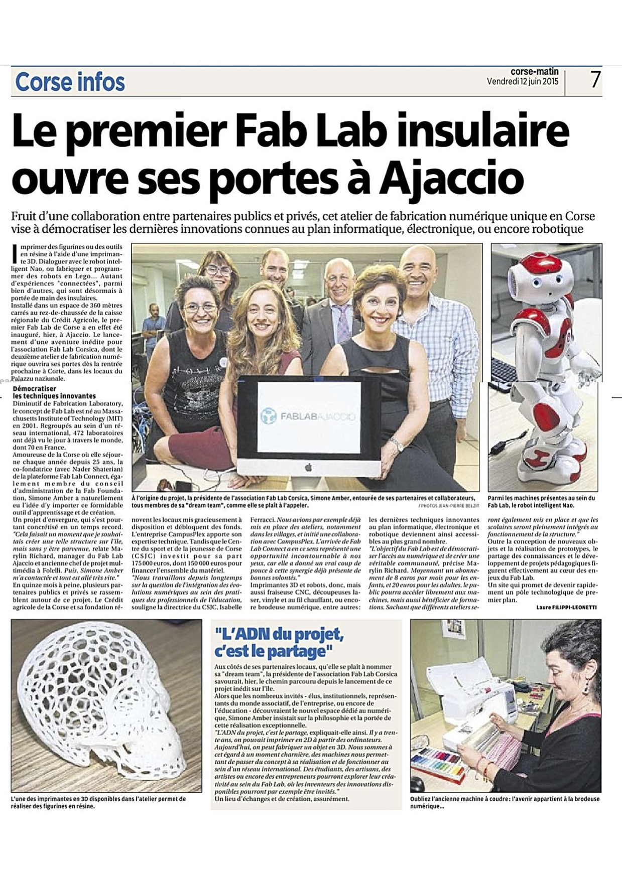 The First Fab Lab of the Corsica Island Opened in Ajaccio