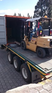 The Fab Lab equipment arrived yesterday to Schlumberger facilities in Quito