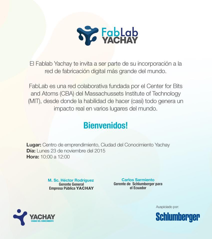Fab Lab Yachay Ecuador