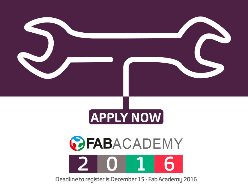 Fab Academy 2016 - Join Us!