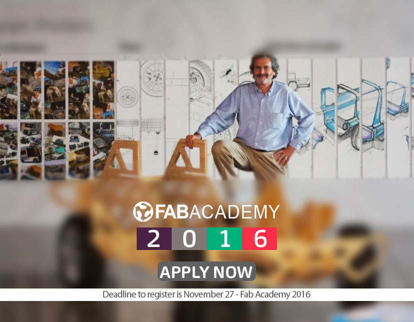Fab Academy - Don't forget to register for Fab Academy!