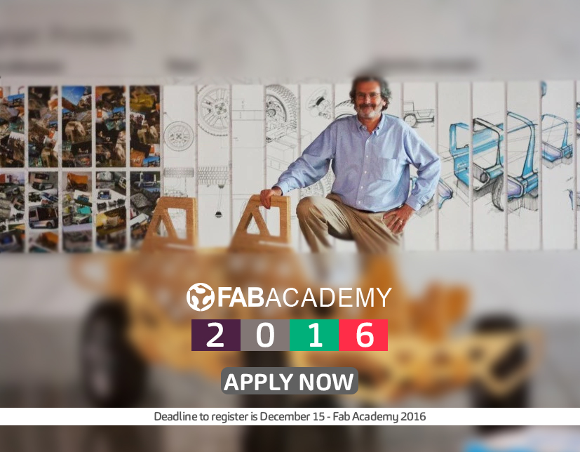 Fab Academy 2016 - Register Today!