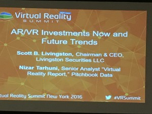 Virtual Reality Summit - Investments