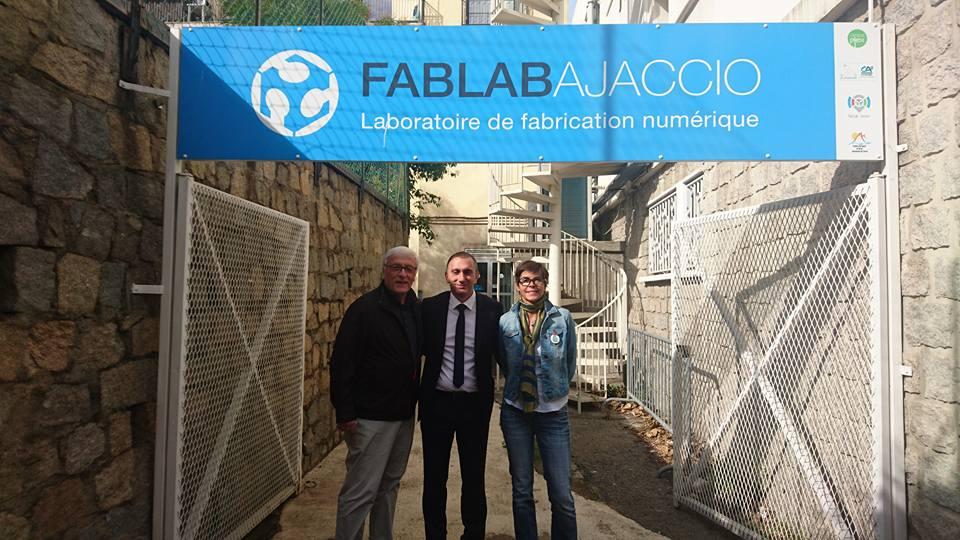 A prestigious visit in our Fab Lab Ajaccio