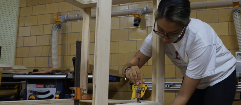 SJHS Students Build Their Own Makerspace