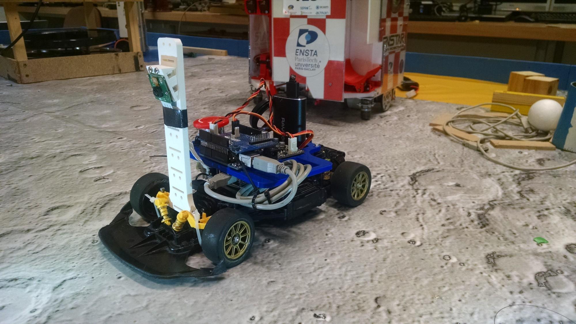 Autonomous Racing Robot With an Arduino, a Raspberry Pi and a Pi Camera