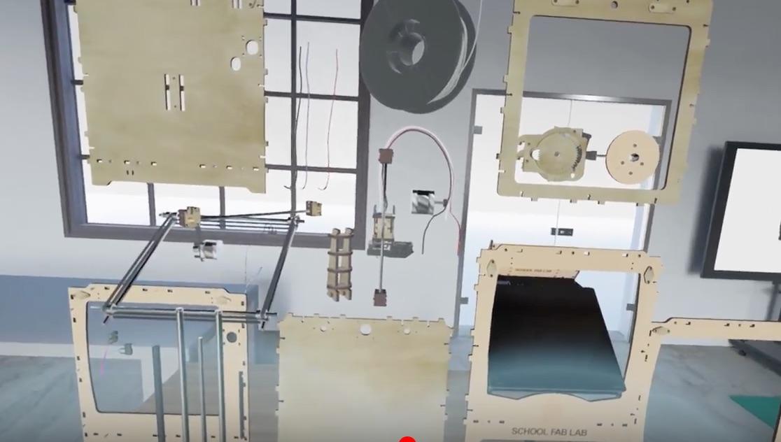 Ultimaker Original+ Assembly & Disassembly in SFL VR App