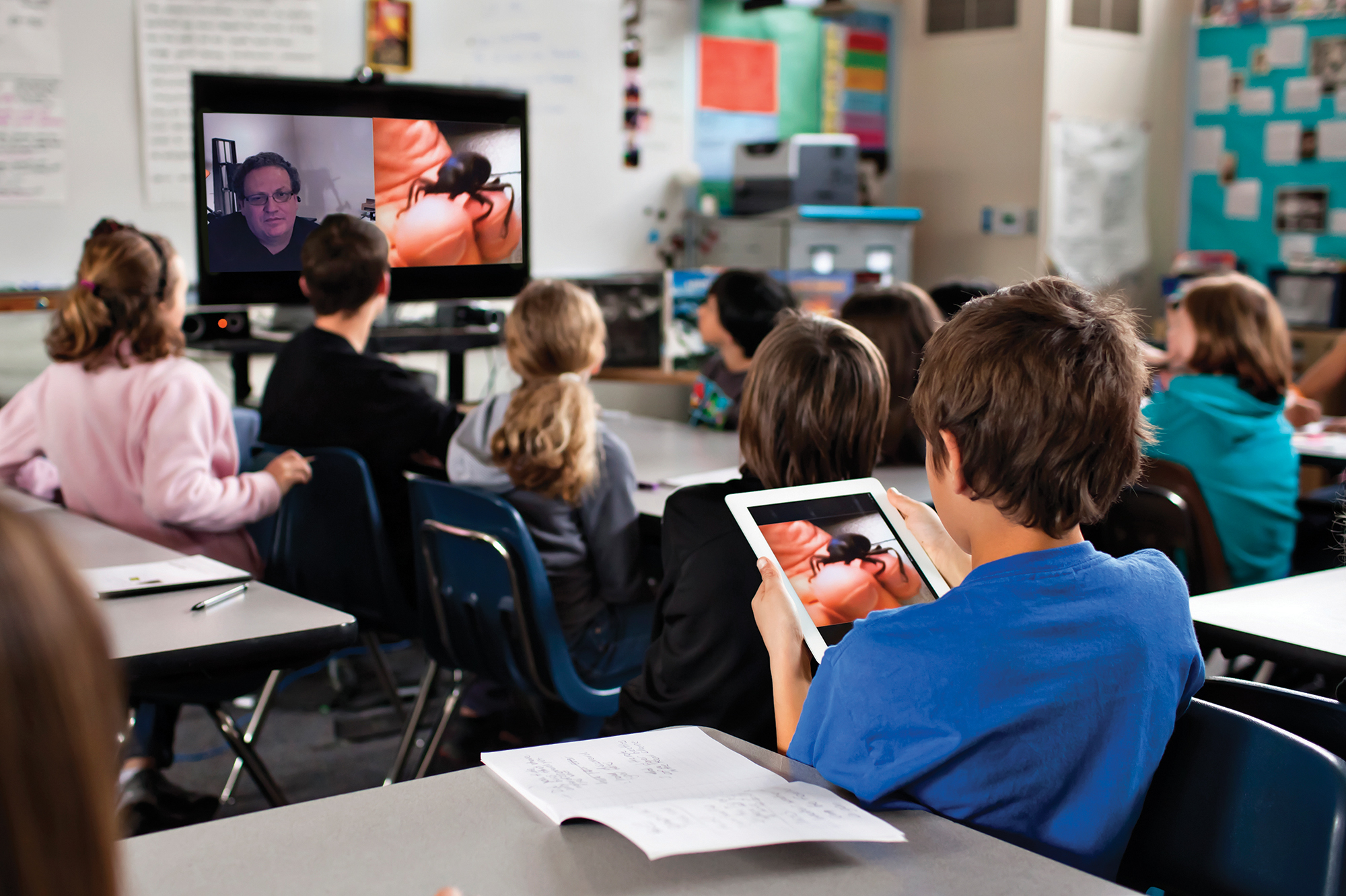Technology of Teleconferencing Connects Urban and Rural Schools