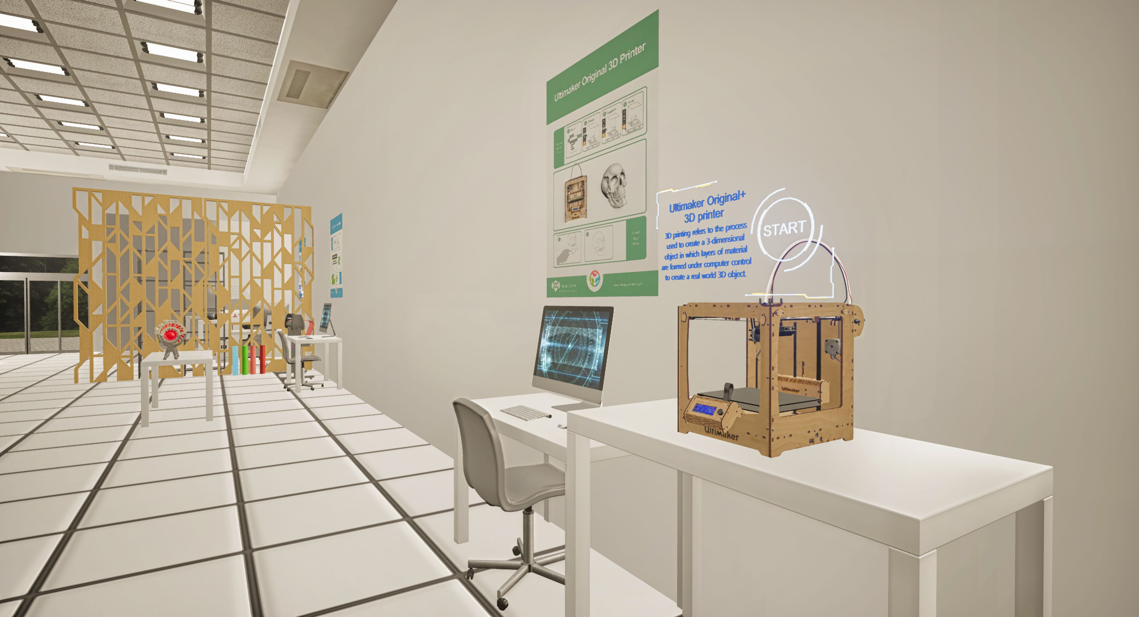 School Fab Lab VR App - 'Test Out State of the Art Equipment'