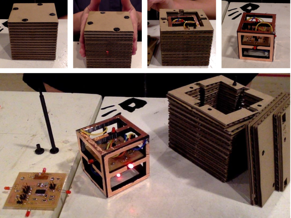 Interactive Cardboard Cubes